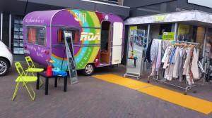 caravan en winkel